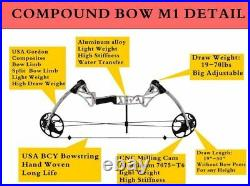 19-70LBS Topoint M1 Archery Compound Bows Shooting Target Sets 31 Adjustable