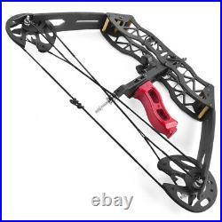 25lbs Mini Compound Bow Arrow Set 16 Hunting Archery Laser Sight RH LH Fishing