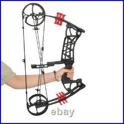 30-55lbs Compound Bow Steel Ball Dual-use Archery Arrow Hunting Fishing RH LH