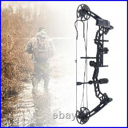 35-70lbs 329fps Compound Bow Arrows Set with 12 Arrows+Arrow box+Four-pin sight