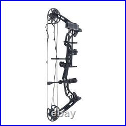 35-70lbs Compound Bow Arrows Kit Adjustable Archery Hunting Target 329fps UK New