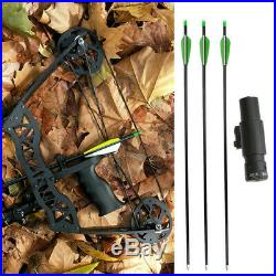 35lbs Mini Compound Bow Arrow Set 16 Hunting Archery Right Left Hand LaserSight