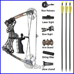 35lbs Mini Compound Bow Arrow Set Right Left Hand Sight Archery Hunting Fishing