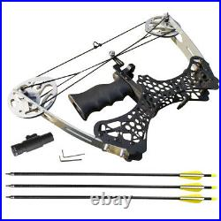 35lbs Mini Compound Bow Set Right Left Hand Archery Fishing Hunting Laser Sight