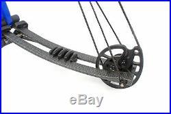 40-60lb 40 M106 Blue/Black Aluminum Compound Bow Archery Adjust with Accessories