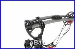 40-70lb Archery Compound Bows Set Black Ambidextrous Sight 30.5 Left Right Hand