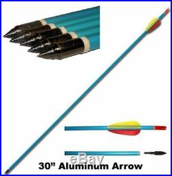 Archery Adult Compound Bow Complete Package with Bag & Arrows Powerful 55lb Draw