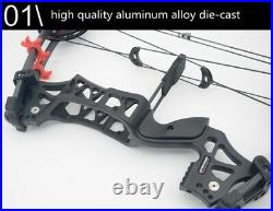 Archery Compound Bow Arrow Dual-Use Can Launch Steel Ball 30-60lbs Free Shipping