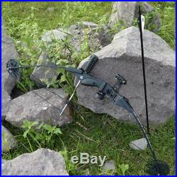 Archery Compound Bow Right Handed 38'' Adult Adjust Hunting Bow Set 25-45 Lbs