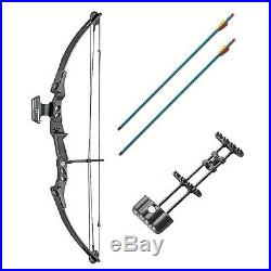 Archery Compound Hunting Bow and Arrow 55lb Quiver, Arrows, Sight & Arrow Rest