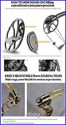 Archery Compound bow package 19-30in19-70lbs 320fps milling Bow Riser IBO