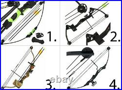 Archery Outdoors Compound Shooting Bow and Arrow Set 12lb-55lb Powerful Choose