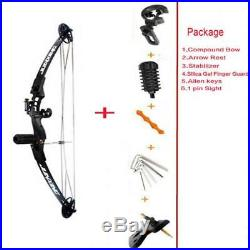 Archery Right Hand Compound Bow And Accessories Hunting Practice Kit 25-45Lbs