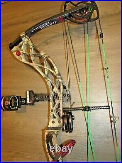 BOWTECH CARBON KNIGHT 28 adjustable 70lb RH fully loaded
