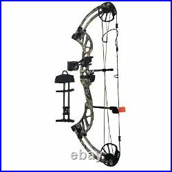 Bear Archery Enticer Compound Bow with Accessories 40-70 Lbs LH Veil Alpine Camo