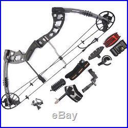 Black/Camo. 30-70lbs Aluminum Alloy Compound Bow Hunting Bow Archery Bow Set