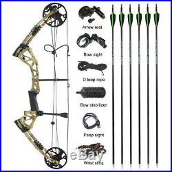 Compound Bogen Carbonpfeile Set 15-70lbs Rechte Hand Bogenschießen Jagdschießen