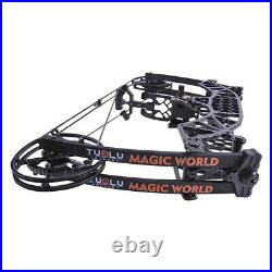 Compound Bow 35-65lbs Short Axis Steel Ball 380FPS Archery Let Off 80% R/LH Hunt