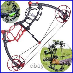 Compound Bow 40-70lbs Short Axis Archery Let Off 80% RH LH Bow Hunting Fishing