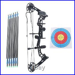 Compound Bow Arrows Kit 329 fps Adjustable Archery Hunting Target 30-70lbs