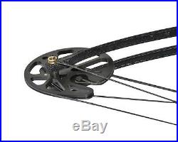 Compound Bow Kit 30-75lbs Hunting Targeting Fiberglass Arrow Rest Quiver Sight