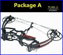 Compound bow 40-70Lbs car shooting hunting short axis triangle fishing outdoor
