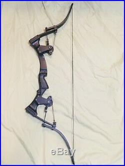 Custom Oneida Black Strike Eagle Bow Fishing Hunt Right Short Draw 15-35-55 Lbs