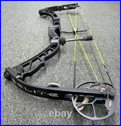 Elite Victory 37 Compound Bow R/H 60 Lbs 28 Ninja Black