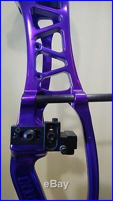 HOYT PRO COMP ELITE XT2000 3D TARGET BOW PURPLE with MANY EXTRAS LH/31/70lb