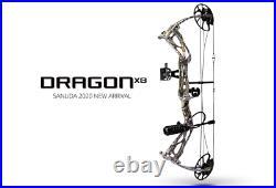 Headhunter Dragon X8 Compound Bow Camo Rth Package, 0-60lb, 18-31