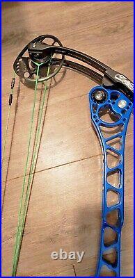 MATHEWS TRX 8 BOW left hand 29.5 70lb Blue super clean
