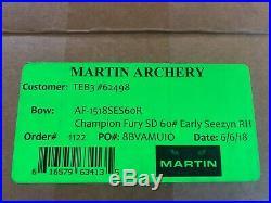 Martin Champion Fury Compound Bow 60lb Short Draw Camo Early Season Right Hand 1