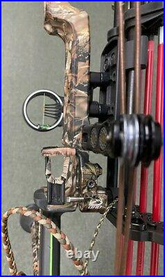 Mathews Monster MR 7 Right Hand 60 Lb Compound Bow + QAD Rest Quiver Sight