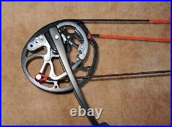 Merlin Edge Compound Bow, Right Handed, Cherry Red, Draw Weight 50lb, DL 30.5ins