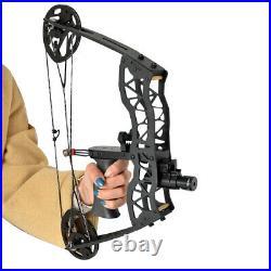 Mini Compoundbogen Set 16 Zoll 35lbs Jagdbogen Bogenfischen Bogenschießen RH LH
