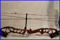 Mybo Edge Archery Compound Bow Red Left Hand Draw Length 28 Weight 50 lbs