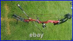Mybo Origin Compound Bow Bare Red. 27 draw at 46lb currently