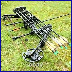 NEW 35-70lbs Adjustable Right Handed Archery Hunting Compound Bow Sets