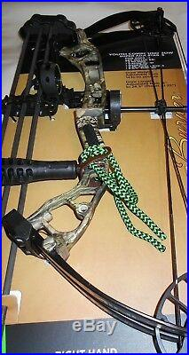 @NEW@ PSE Mini Burner Youth Camo Compound Bow Package! RH 16-26.5 14-40lb