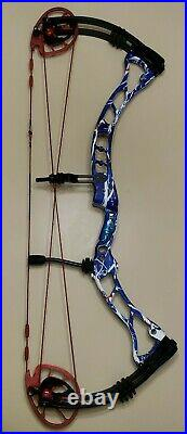 Obsession Archery Addiction Obb Patriot Red White Blue 3d Target Bow 28/rh/60lb