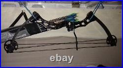 Predator 2 Carbon Compound Bow 65 lbs Poe Lang. 12 Easton arrows 31 Screw tip