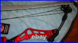 Red Compound Bow M107 40-650lbs 23-29 draw RH 40