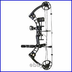 SAS Destroyer 19-55 lbs Archery Compound Bow ATA 31 (Black Travel Package)