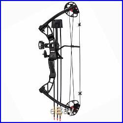 SAS Rex 25-55 Lb Quad Limb Compound Bow Package with Bow Sight, Arrow Rest, Quiver