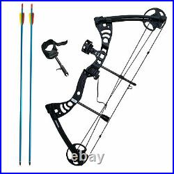 SAS Scorpii 55lbs Bow Kit with Arrow Rest, Sight, Release, and Arrows Black/Camo