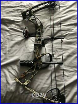 Salinda Compound Bow, Camouflage, upto 70lbs draw weight, excellent condition
