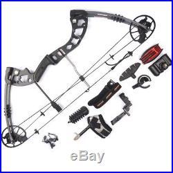US JunXing M125 30-70lbs Archery Aluminum Alloy Compound Bow Set/Bow Accessories