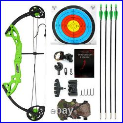 Youth Compound Bow Arrow Set 15-29lbs Junior Archery Beginner Shooting Target
